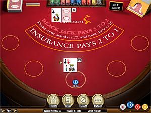Spela blackjack hos Betsson