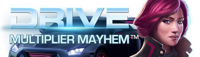 Testa spelautomaten Drive: Multiplier Mayhem på Casumo